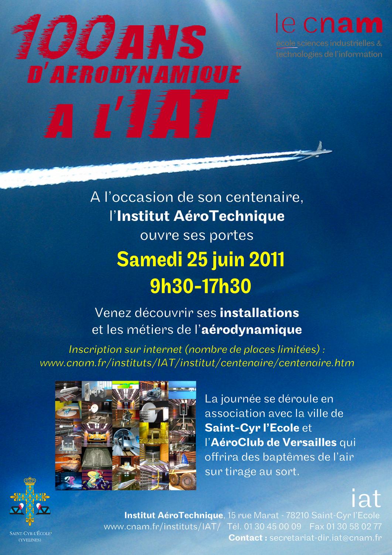 Affiche du centenaire de l'Institut AéroTechnique