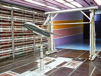 Banc de tomographie dans la soufflerie S10: exploration du sillage d'une maquette d'avion